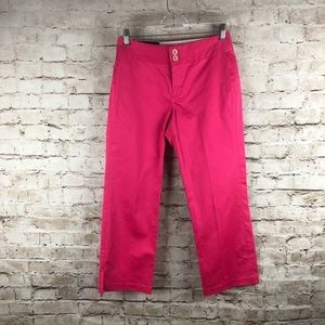 NWT Women's Banana Republic Pink Capri Pants Sz 0